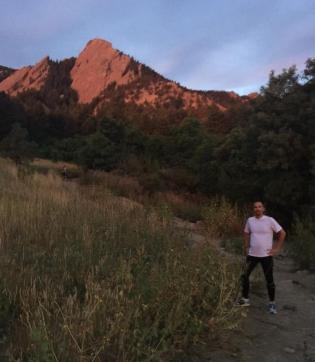 Trail running in Boulder