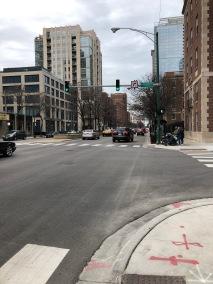 LaSalle St in Chicago (approx 5k spot for Chicago Marathon