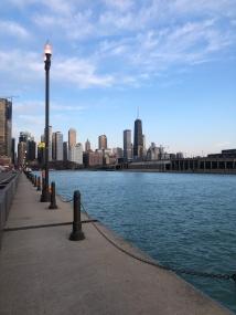 Navy Pier looking over Chicago