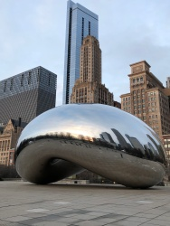 The Bean at sunrist