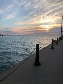 Sunrise on Navy Pier in Chicago